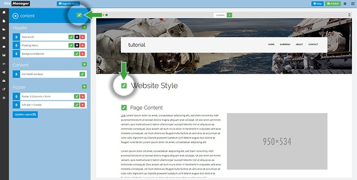 3 website style